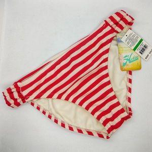 Hobie Red/White Stripe Bikini Bottom Size L